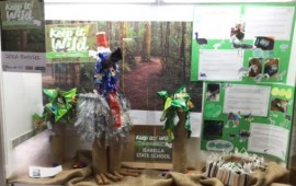 'Keep it Wild' eco-art display at Cairns Botanic Gardens Visitor Centre