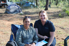 Rainforest Aboriginal rangers mentored by leaders in field