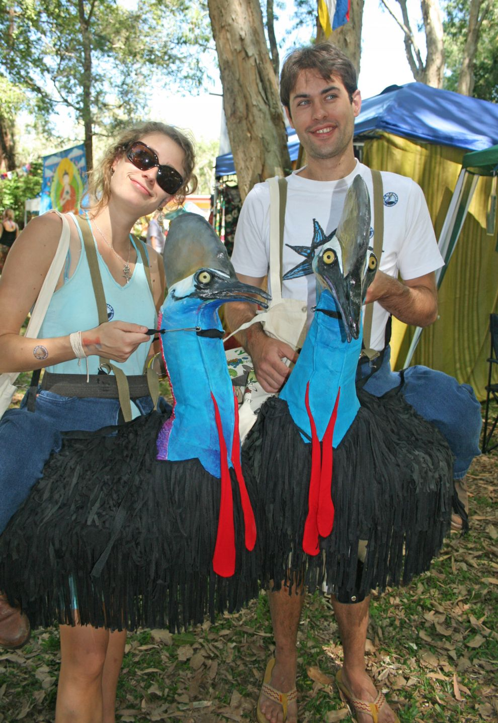 Cassowary riders at Envirofiesta Photographer: Campbell Clarke