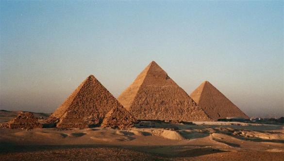Pyramids Egypt World Heritage site Photographer: Bruno Girin