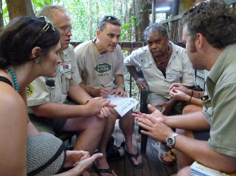 Wet Tropics Tour Guide Network Field School - Workshop at Daintree Discovery Centre. Photographer: Wet Tropics Images