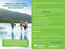 Wet Tropics National Landscape Tourism Forums