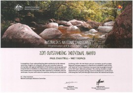 National Landscapes Award for Wet Tropics