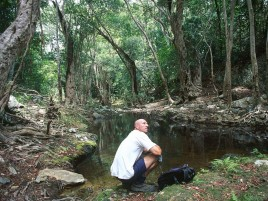 Hiker at Surprise Creek Photographer: WTMA