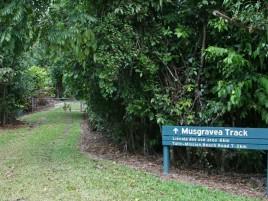 Musgravea Track - entrance Photographer: Campbell Clarke