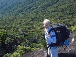 Hiker on Bartle Frere Photographer: Steven Nowakowski