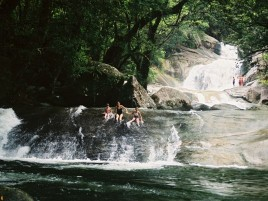 Swimming at Josephine Falls Photographer: Campbell Clarke