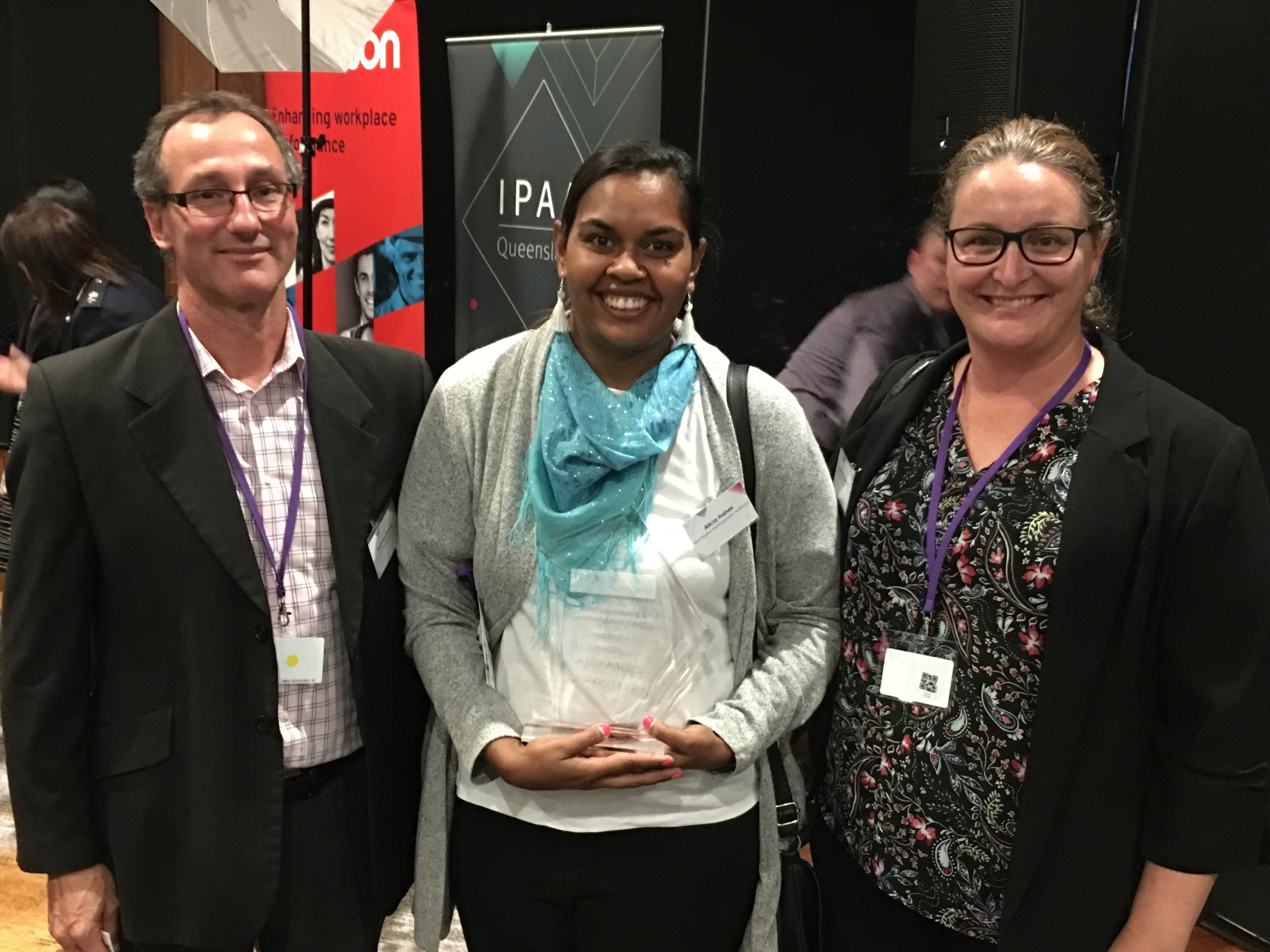 Authority staffer collects leadership prize
