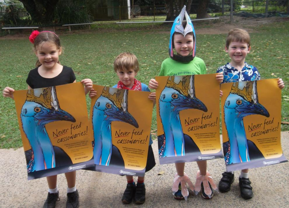 Aloomba kids care for cassowaries