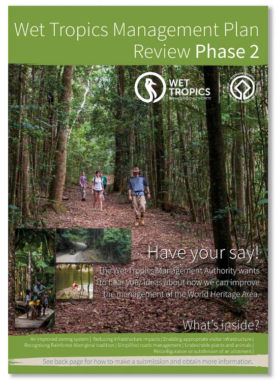 2019 Wet Tropics Plan review brochure cover