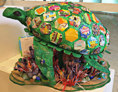 Isabella State Schoo's 'Eco Eddie' was named a runner-up in Wet Tropics Management Authority's 'Keep it Wild' eco-art competition. Photographer: Samuel Davis